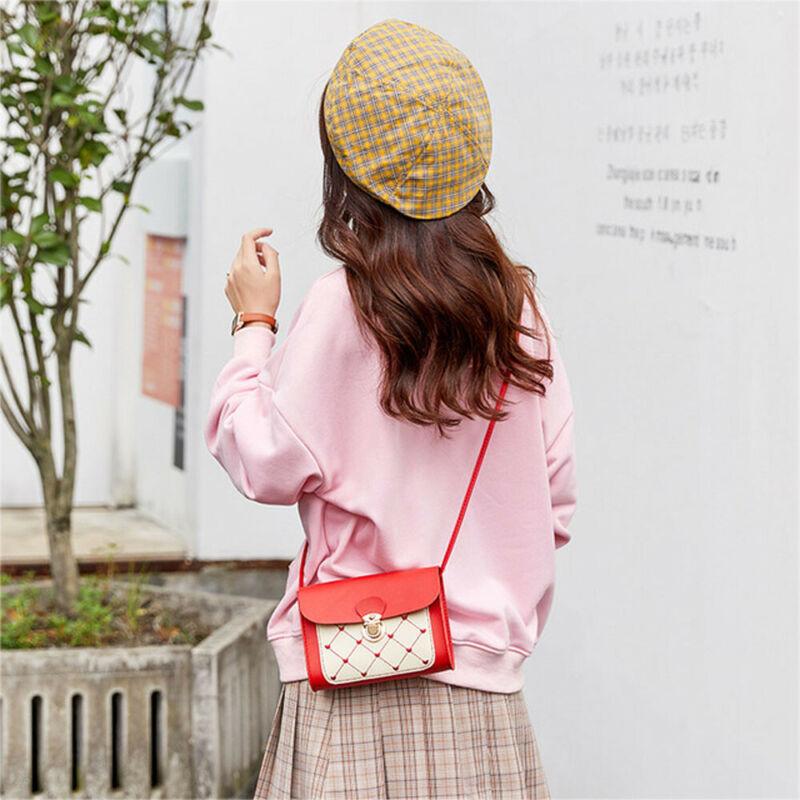 Small Shoulder Bags For Women Solid Messenger Bags Ladies Fahion PU Leather Handbag Purse Female Satchel Crossbody Bags Handbags