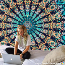 India Mandala Tapestry Wall Hanging Boho Decor Wall Cloth Tapestries Psychedelic Hippie Night Moon Tapestry Mandala Wall Carpet