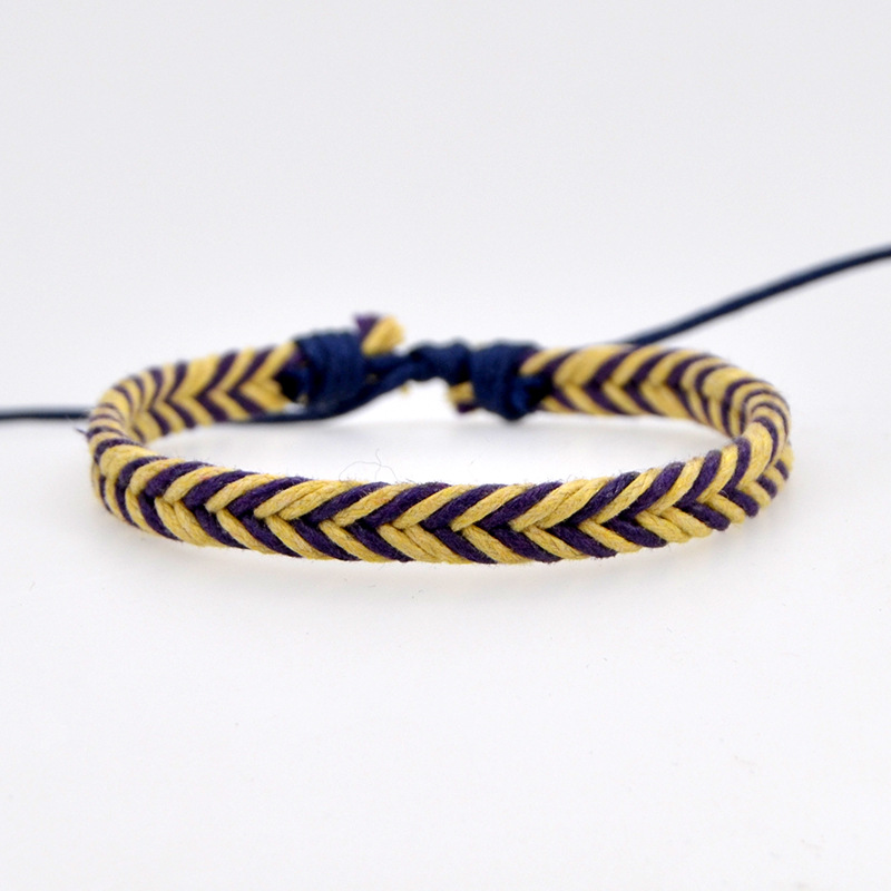 Handmade Vintage Rope Charm Bracelet For Women Men Brown Adjustable String Bracelet Jewelry