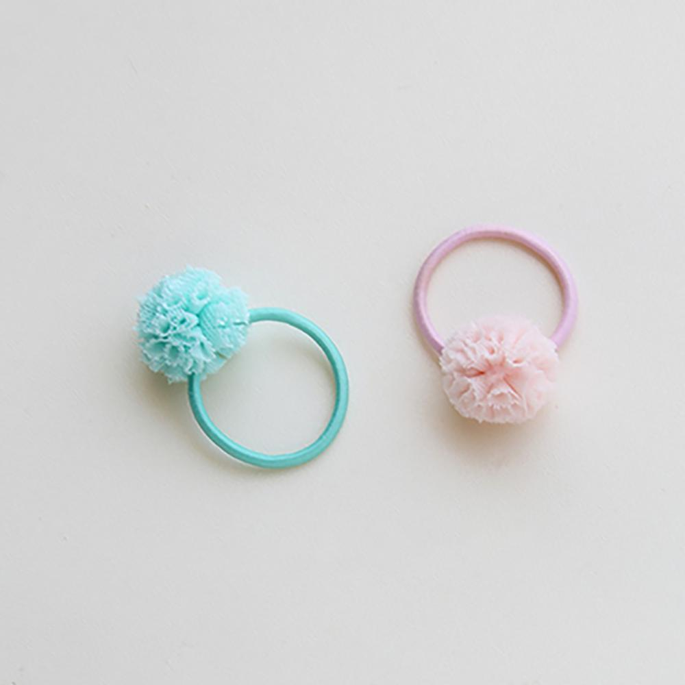 Hot Cute 2Pcs lot Elastic Hair Bnads For Baby Girls Candy Color Ball Ponytail Baby Headband Newborn Infant Hair Band Accessories