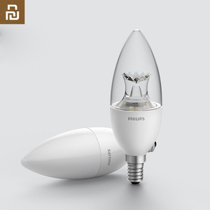 Image 1 - Original Philips Smart Candle Shape LED Lamp E14 Bulb Light White 3.5W 0.1A 220 240V 50/60Hz Wifi Remote Control For Mi home App
