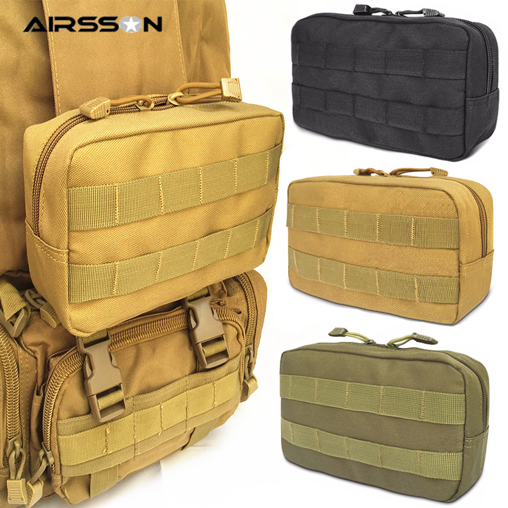 <font><b>Tactical</b></font> <font><b>Molle</b></font> Belt Pouch Military Bag Magazine Waterproof Waist Pack Sport Bags Carrier Cell Phone Case For Backpack & Vest image