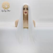 Perruque Lace Front Wig synthétique sans colle ZigZag