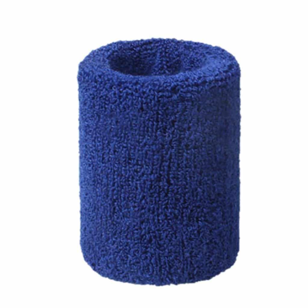 Muñequera deportiva Unisex muñequeras de algodón muñequera banda para el sudor para el tenis deportivo 5x8cm abrazadera de baloncesto #15