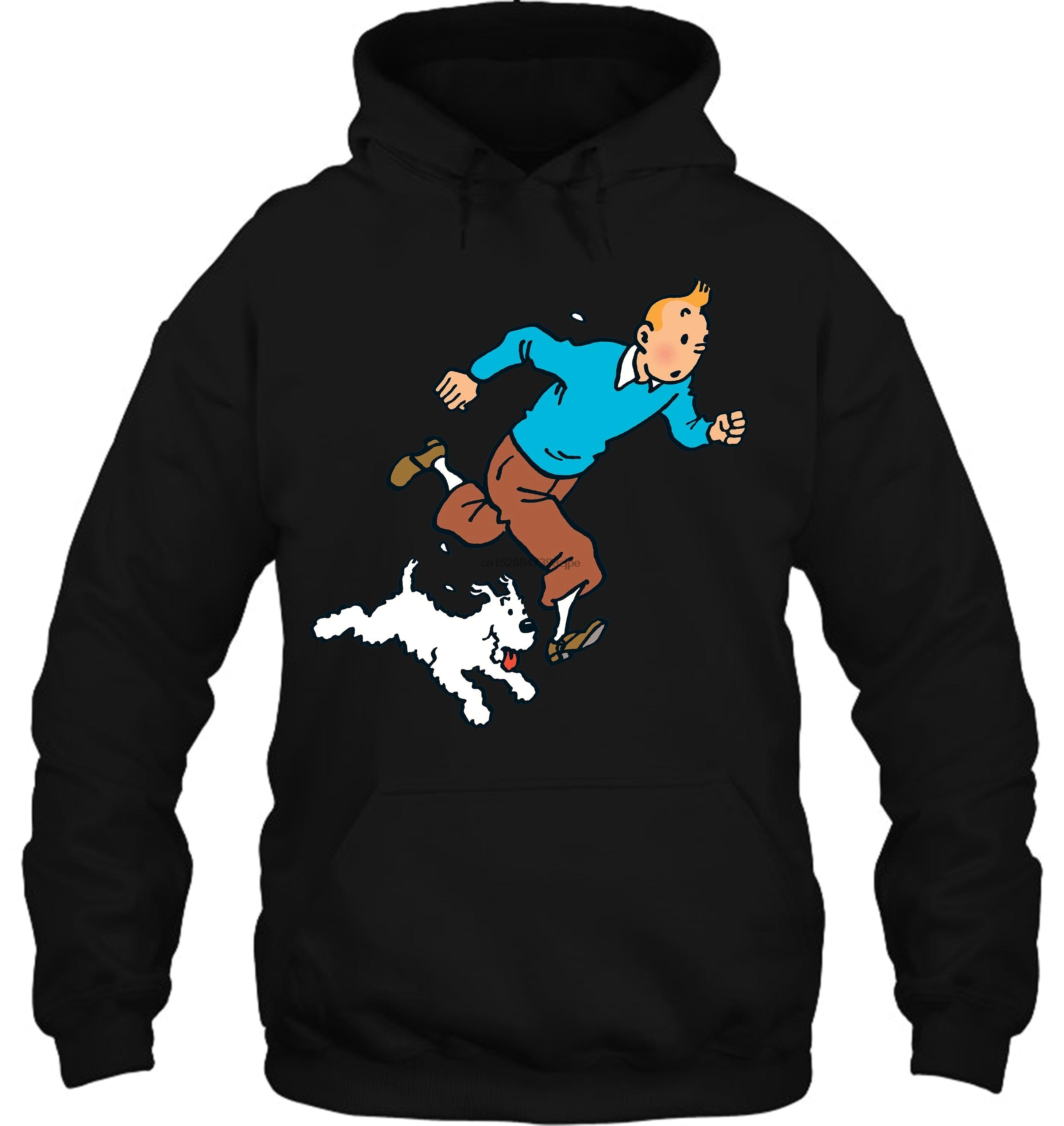 Tin Tin Adventure Tintin Dog Snowy Cartoon Tee Fan Gift New From US Streetwear Men Women Hoodies Sweatshirts