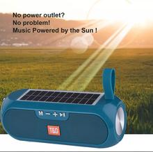 Bluetooth Speaker Portable Column Wireless Stereo Music Box Solar Power Bank Boombox MP3 Loudspeaker Outdoor Waterproof Speakers mp3 music player box metal boombox loudspeaker portable bluetooth speaker usb charging wireless boombox indoor 800mah battery