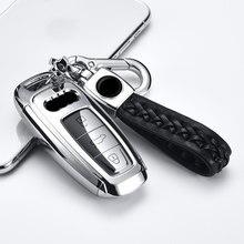Funda de TPU para llave de coche, accesorios de Interior con estilo para Audi A6 C8 A7 A8 Q8 2018 2019