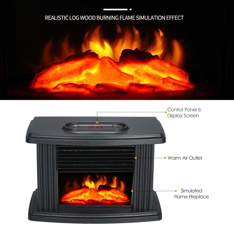 1000w Desktop Mini Electric Fireplace Heater Electric Heater Warm