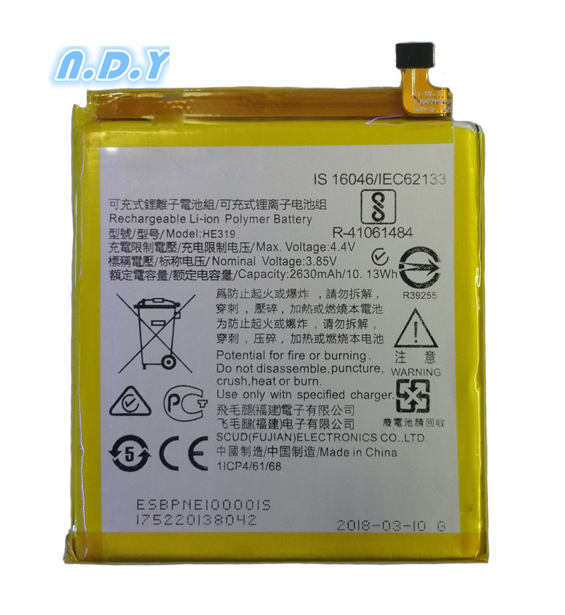 Original  HE319 2650mAh Battery For For Nokia 3 TA-1020 1028 1032 1038 Lithium Polymer Batteries