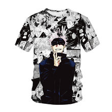 New Fashion Anime Jujutsu Kaisen 3D Printed T-Shirt Man Women Harajuku Oversized T Shirt Hip Hop Cool O-neck Top Men's Clothes