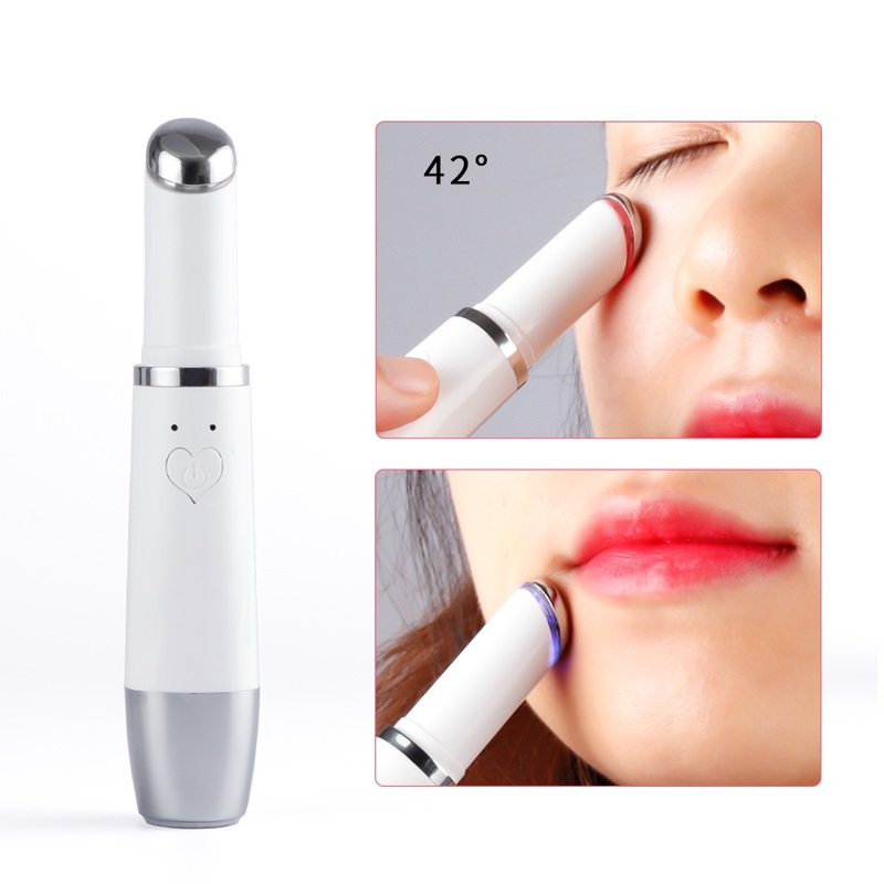 Electric Mini Eye Massage Device Facials Vibration Thin Face Go Bags Under The Eyes Stick Anti Bag Pouch Wrinkle Eye Care Tool
