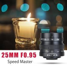 Zhongyi lente de gran apertura mitaku Speedmaster 25mm f/0,95 para cámara de montaje MFT bmpcc GH4 OMD EM1 Olympus/Panasonic