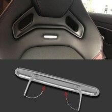 Metal Car Seat Sticker For AMG Mercedes Benz W212 W213 W210 W202 W205 CLA C/E/S Interior Stickers Logo