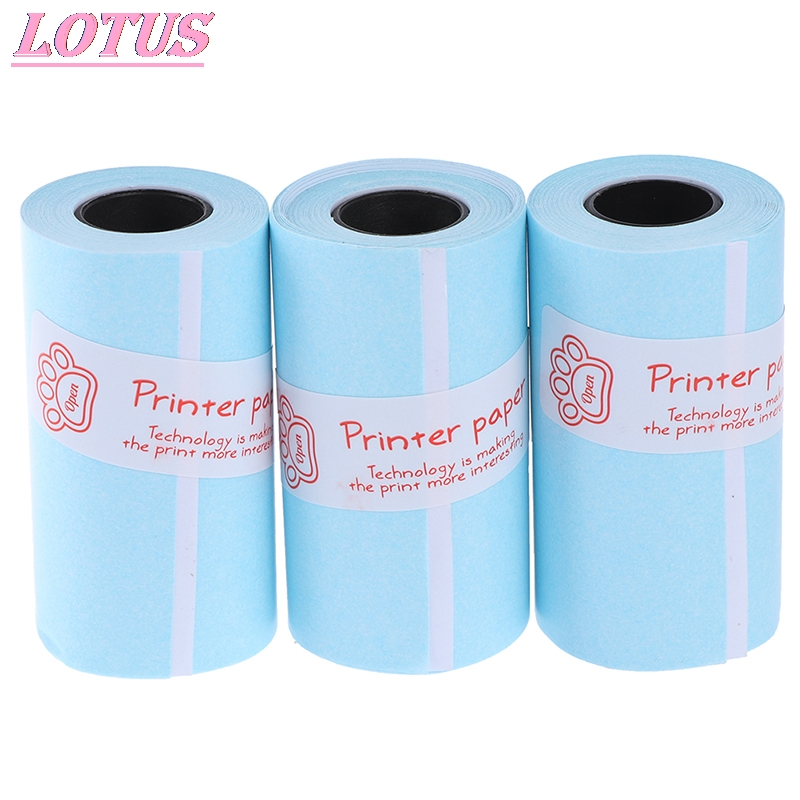 3PCS Printable Sticker Paper Roll Direct Thermal Paper Self-adhesive 57*30mm Hotsale