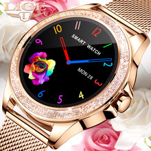 LIGE 2021 Luxury New Smart Watch Women Heart Rate Blood Pressure Monitoring For Android IOS Waterproof Fashion Ladies Smartwatch
