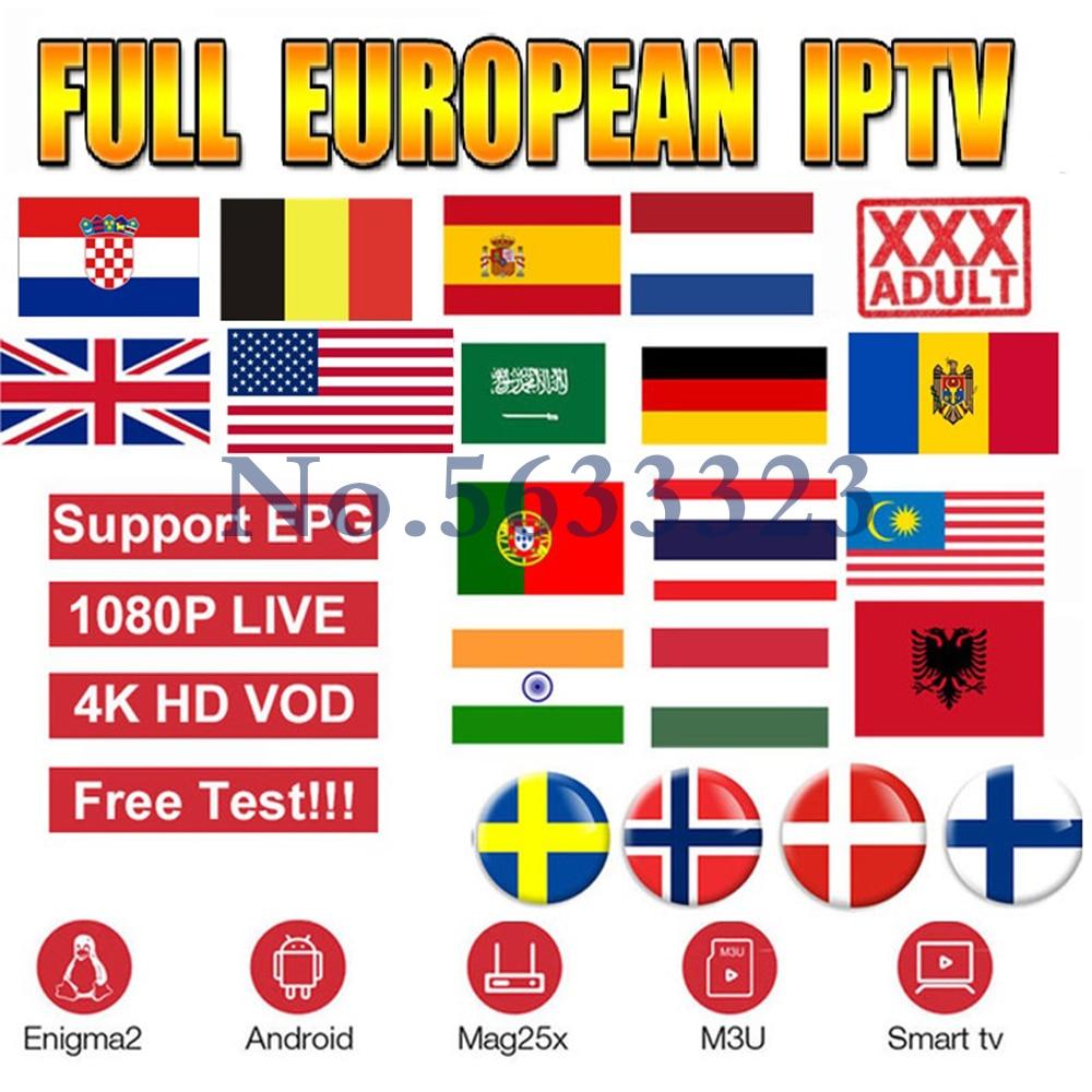 Europe IPTV Russia M3U subscription for 1 year, IPTV UK Sweden Romania Ukraine Netherlands Poland Greece Android TV box list