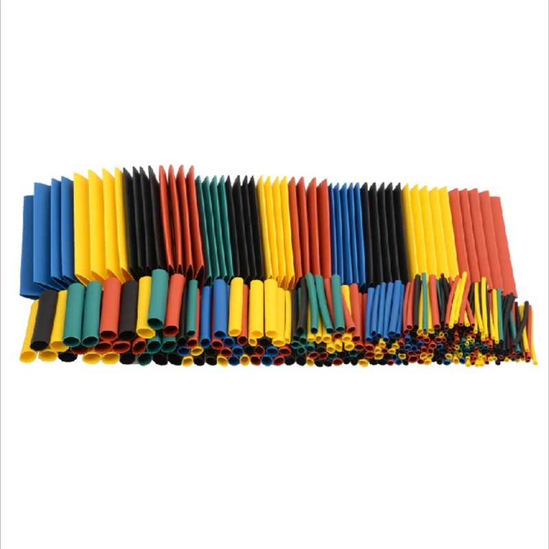 164pcs 328pcs Set Polyolefin Shrinking Assorted Heat Shrink Tube Wire Cable Insulated Sleeving Tubing Set