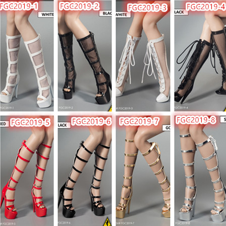 Flirty Girl 1//6 Female Stiletto Sandals FGC2019-910 12/'/' Action Figure Accessory