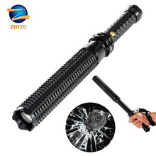 ZHIYU LED Tactical flashlight Self-defense torch powerful XML Q5 scalable LED lantern rechargeable lamp Use 18650 battery panyue 2 packs traffic signal baton flashlight xml t6 1000lm powerful led lamp torch lantern with 18650 battery