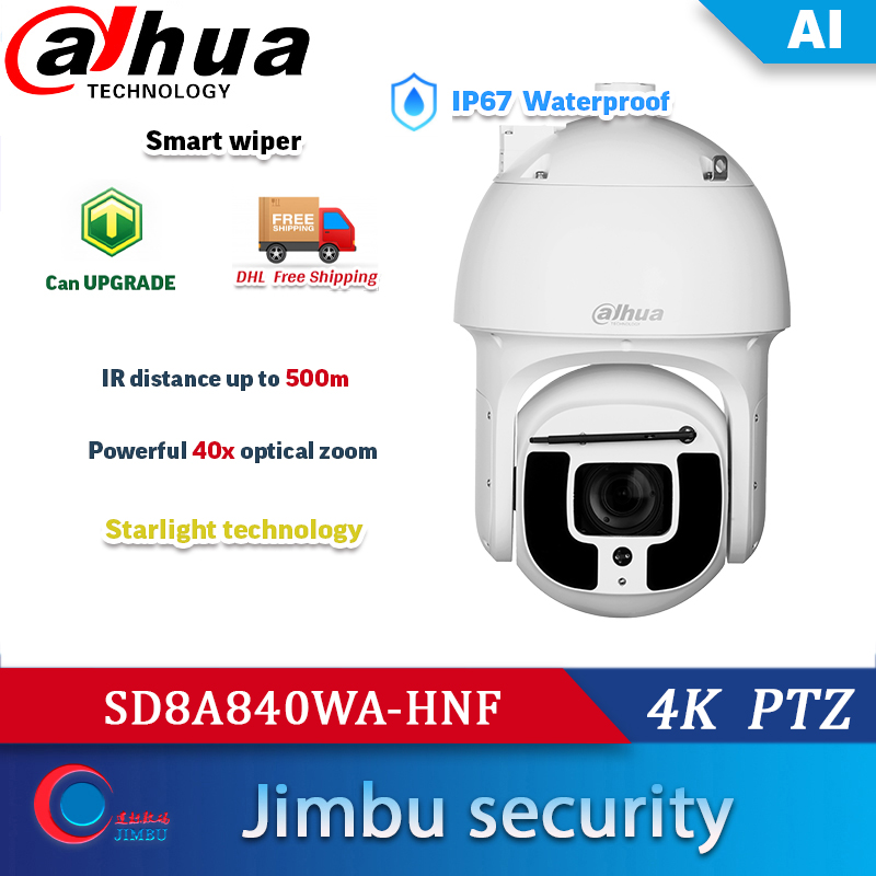 Dahua SD8A840WA-HNF 4K 40x Starlight IR 8mp AI Network ip Camera auto-tracking PTZ CCTV camera
