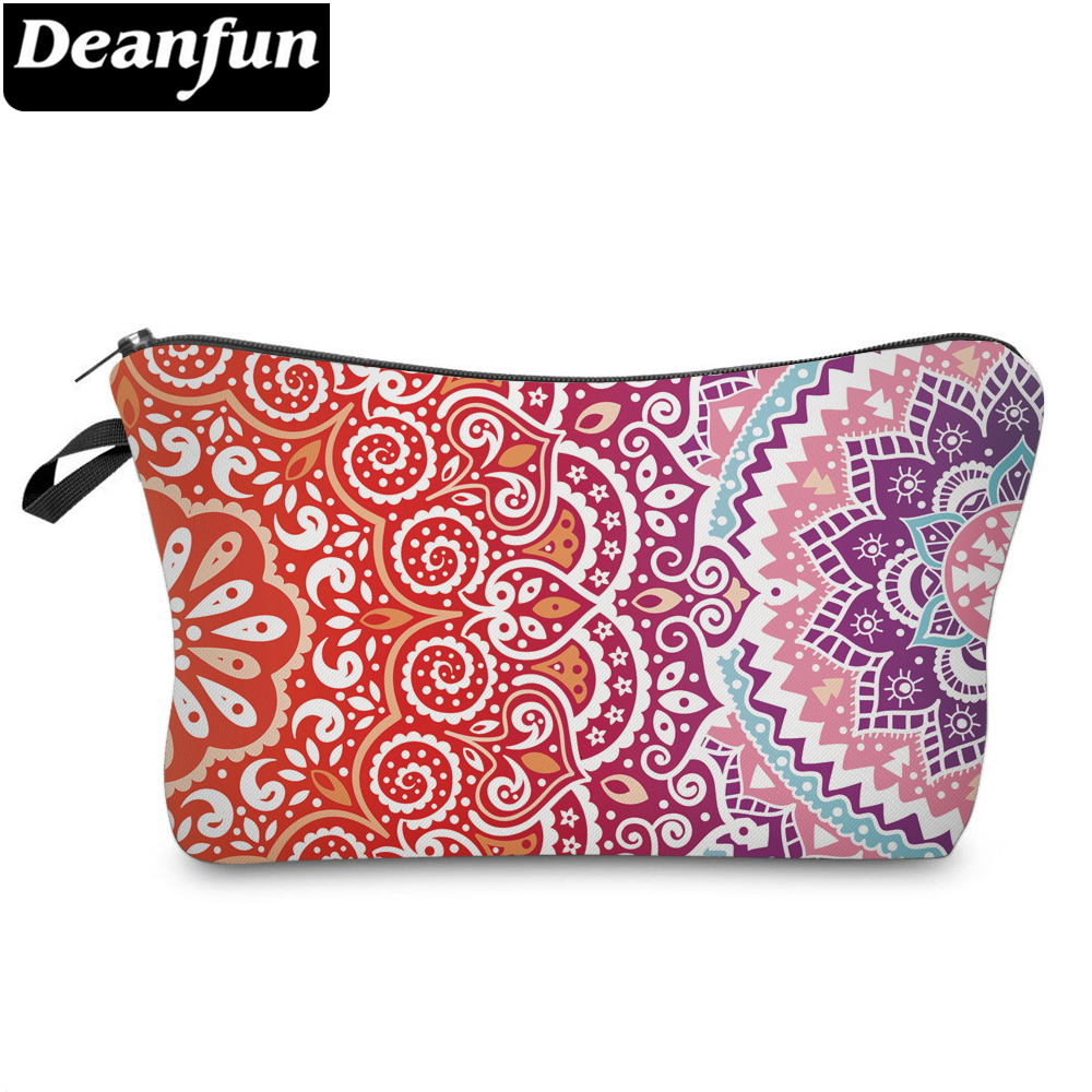 Deanfun Mandala Printed Small Cosmetic Bag Makeup Bags For Purses Waterproof Cute Makeup Bags For Women 51391