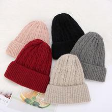 Зимняя вязаная шапка kenshelley шерстяная в Корейском стиле