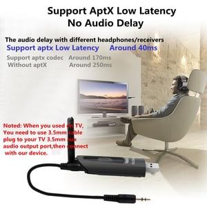 Image 3 - Aptx Niedrigen Latenz LL 20M LONG RANGE Bluetooth 5,0 Audio Sender TV PC PS4 Fahrer Freies 3,5 MM AUX Jack RCA USB Wireless Adapter
