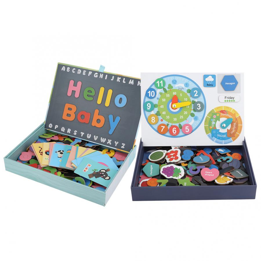 Learning English Sight Words Puzzles Card Spelling Magnetic Alphabet Letters Game Early Learning Educational Toys For Kids Gifts