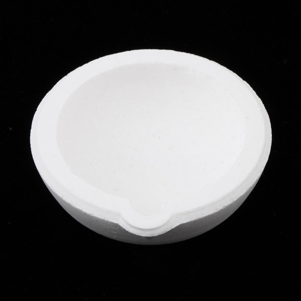 100 Grams High Temperature Quartz Silica Melting Crucible For Gold Silver Platinum Metal Jewelry Tools Equipment Bowl Dish Cup