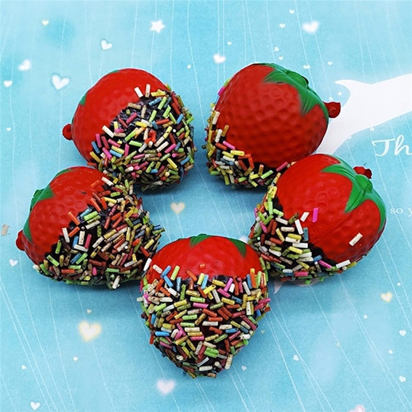 Decompression Toy 2020 Hot Sale Strawberry Squishy Super Jumbo Scented Slow Rising Rare Fun Toy Kawaii Slow Rebound Toys 30JAN16