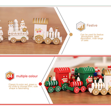 New Christmas Train Decoration Gift Cute Wooden Mini Children Kindergarten for Party