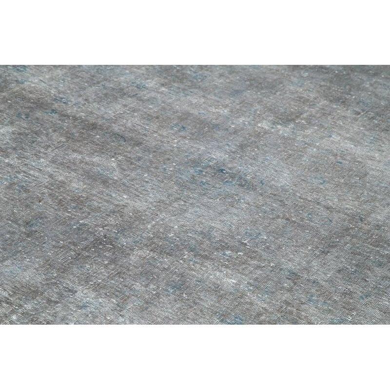 300x400 Cm Grey Handmade Overdyed Large Area Rug-10x13 Ft