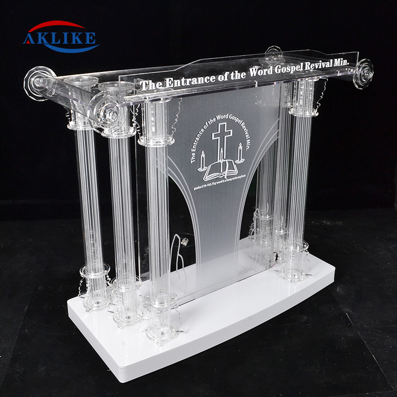 Free Glass Pulpit For Sale Gold Smart Aklike Victory Stand Acrylic Podium Lectern Plexiglass For Conference Lectern