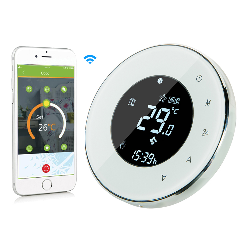 Electric Underfloor Heating Thermostat LCD Touch Screen Backlight wireless WIFI App Control 16A Works with Alexa Google Home