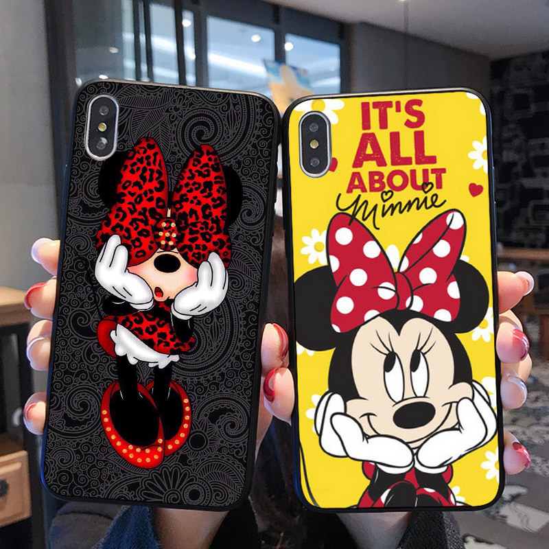 Mickey Minnie Cover Case For IPhone 10 X XS Max XR 6 6S 7 8 Plus 5 5S SE Samsung Galaxy