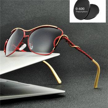 Retro Vintage okrągłe męskie damskie polaryzacyjne okulary przeciwsłoneczne spolaryzowane okulary wykonane na zamówienie krótkowzroczność Minus soczewki na receptę FML tanie i dobre opinie Mincl Butterfly Dla dorosłych WOMEN ALLOY UV400 Polaroid