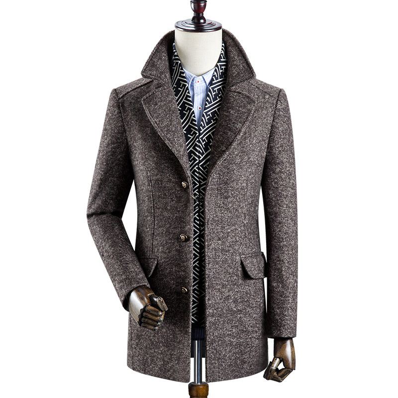sobretudo masculino 2020 new arrival winter high quality 60% wool thicked trench men coat male gray wool jackets plus size M-4XL