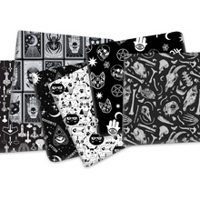 50*145cm Black White Series Polyester Cotton Fabric for Tissue Sewing Quilting Fabrics Needlework Material DIY,1Yc16870