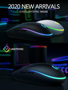 Logitech Gaming Mouse Mice Gamer Wired Laptop G102 LIGHTSYNC 6-Buttons 8000DPI RGB USB