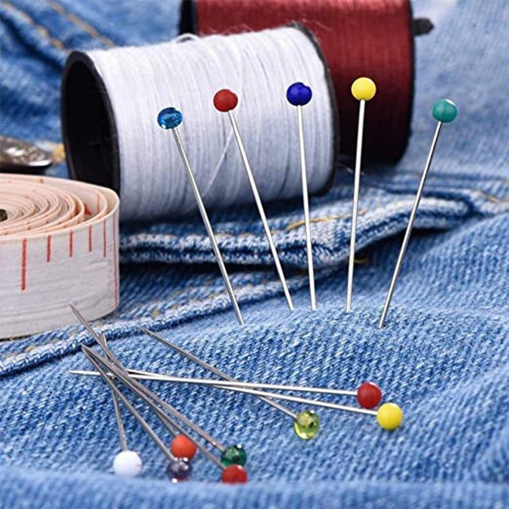 100 шт. перламутровая игла, игла, цветная игла для позиционирования, шитье, Beedle, нержавеющая сталь, штифт, шитье, Diy инструмент # W3