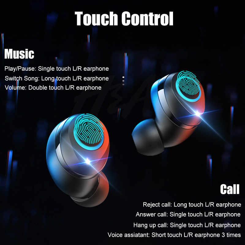 Беспроводные наушники H & A, Bluetooth V5.0, наушники, мини TWS, беспроводные Bluetooth наушники, Hi-Fi стереосенсорное управление, гарнитура без рук