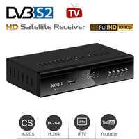Koqit-Receptor satélite k1 con Internet, buscador de satélite gratuito, Iptv, m3u, sintonizador de Youtube, servidor decodificador DVB S2, DVB-S2, decodificador de TV