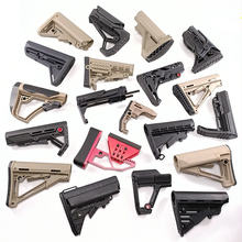 Arma de brinquedo com bola de plástico tático equipemt jinming8/9 mft ctr mod náilon decoração estoque modificado montagem de água bala arma
