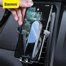 Baseus-Soporte de teléfono para coche Gravity, base de rotación de Metal 360 para montaje de teléfono móvil Vertical plegable de 4,7-6,5 pulgadas