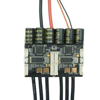 V4.20 Dual Fsesc4.20 100A Esc W/ Bec Anodized Aluminum Heatsink For Electric Skateboard Rc Car Drone E-Bike E-Scooter Robot