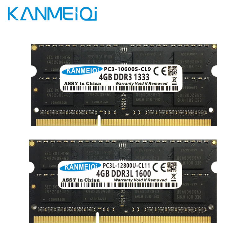 KANMEIQi DDR3 Laptop Memory With 2GB 4GB 8GB And 1333Mhz 1600MHZ 1866MHZ 4