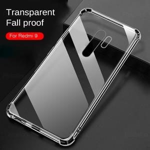 Transparent Soft Phone Case For Redmi 9 8 7 6 5 9a 9c 8a 7a 6a 5a 4a 4x redmi go note 9s 9 8 7 6 5 pro Silicone Shockproof Cover