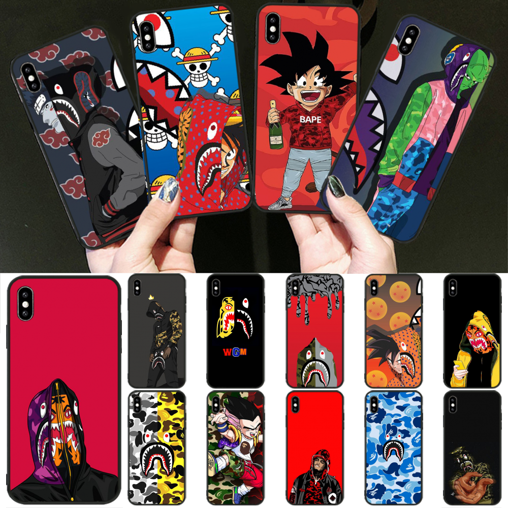 BaweiTE BAPE Anime Customer High Quality Phone Case for iPhone 11 pro XS MAX 8 7 6 6S Plus X 5 5S SE XR cover