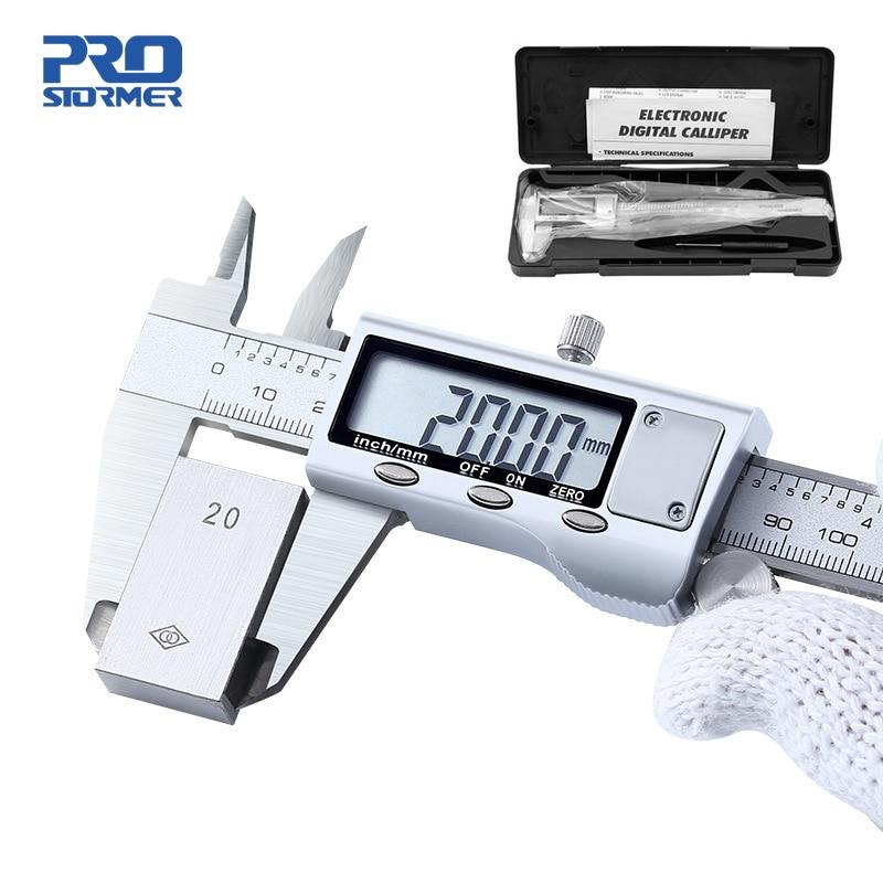 0-150mm Vernier Caliper Stainless Steel/Plastic LCD Digital Caliper 6 inch Instrument Depth Measuring Tools by PROSTORMER