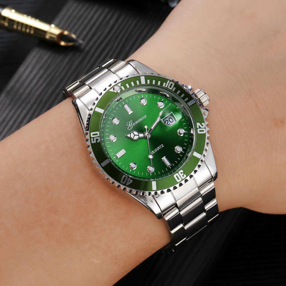 Baru Pria Fashion Militer Stainless Steel Tanggal Olahraga Kuarsa Jam Tangan Analog Luxury Date Business Clock Relogio Masculino Reloj
